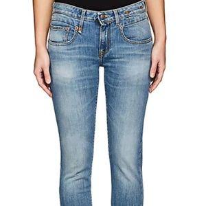 R13 Women's Skinny Light Wash Jeans Sz 26